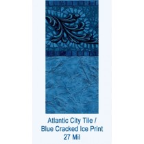 Atlantic City Tile / Blue Cracked Ice Print