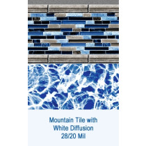 Mountain Tile w/ White Diffusion