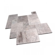 Silver Travertine Paver Sets